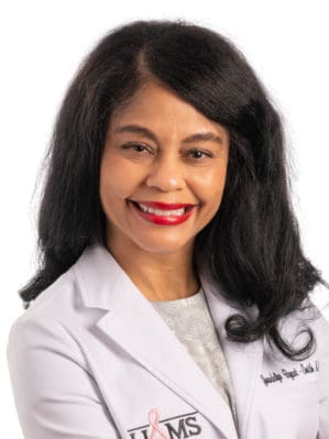 Gwendolyn Bryant-Smith, M.D., chief of breast imaging at UAMS and local principal investigator for the trial