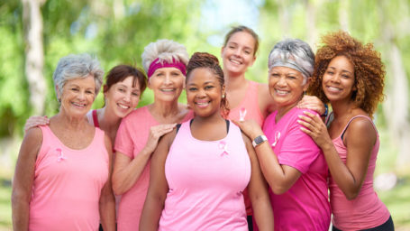 Group of women supporting to end Breast Cancer